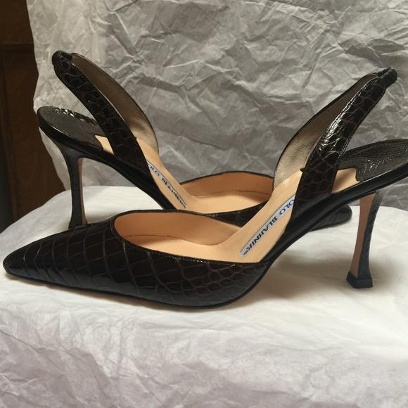 5269011f5d Manolo Blahnik Shoes | Nib Carolyne Alligator Heel 355 | Poshmark